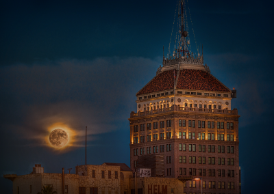 Supermoon over the Pacific Southwest Building by Marc Blake Photography & Video Production